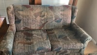 brown and green fabric loveseat Albuquerque, 87110