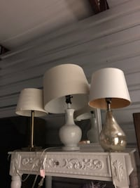 two white and gray table lamps Nesconset, 11767