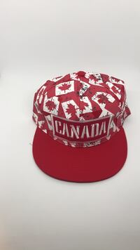 red and white fitted cap Toronto, M1H 3G5