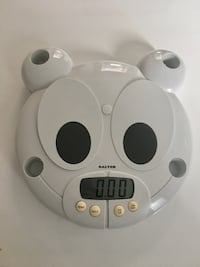 Gray Salter digital bathroom scale for toddlers