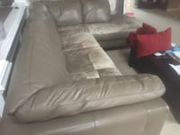 Free Leather Sectional CENTREVILLE