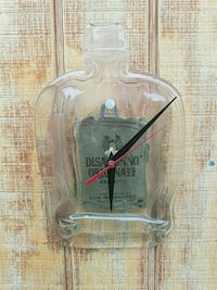 glass bottle clock