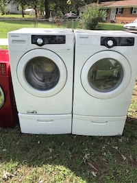 white front-load washer and dryer set High Point, 27263