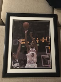 Framed Juan Dixon signed photo. Authenticated.