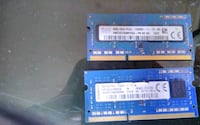 2NSTICKS OF 4 GN DDR3 LAPTOP RAM FOR 8 GB TOTAL
