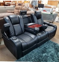 Power reclining sofa or love seat $499 no credit check financing  Roslyn Heights, 11577