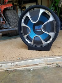 black, gray and blue Pyle 800watts subwoofer Demorest, 30535