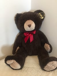Used Fao Schwartz Large Black Bear Plush Toy New With Tag 115 New