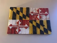 Maryland flag wall art Alexandria, 22304