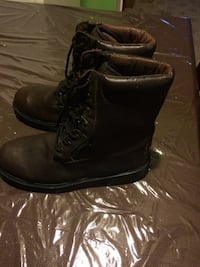 Black leather combat boots Winnipeg, R3T