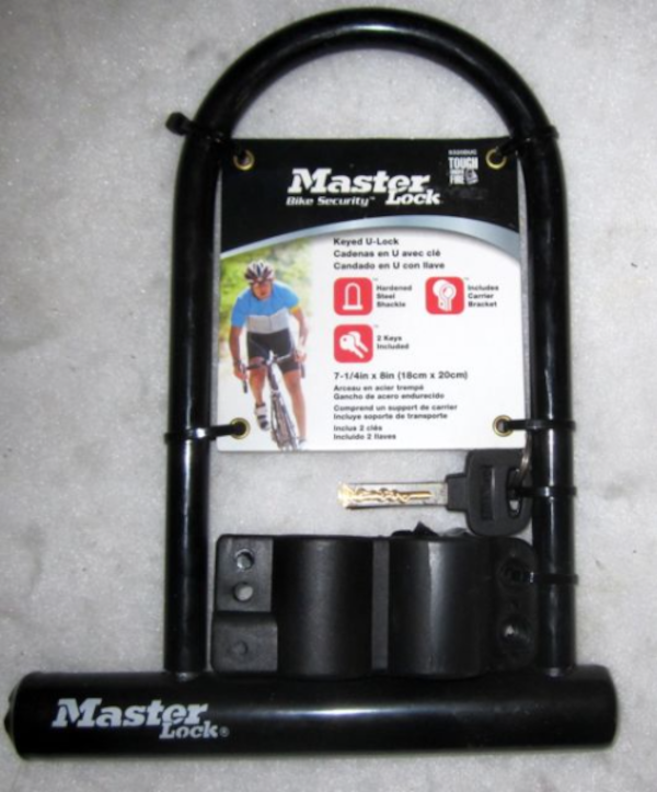 New Master Lock Bicycle Bike Security Hardened Steel U-Lock With Car