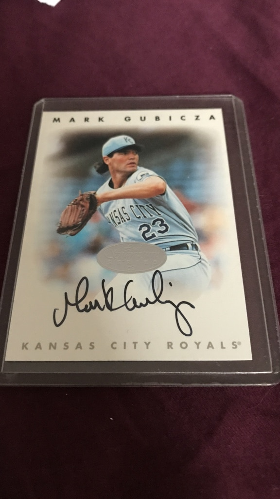 Mark Gubicza autographed trading card
