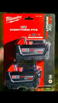 Brand New Milwaukee m18 2 pack batteries