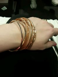 Rose gold plated bangles and hoops Amarillo, 79109