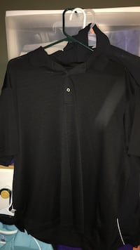 Black dress shirt polo size large