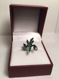 New Emerald Ladies Ring, Size 6 3/4, 10K gold filled with box Chesapeake, 23320