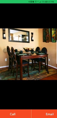 brown wooden dining table set Waldorf, 20601
