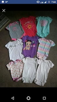 3-6 month baby girl onesies South Bend, 46613