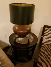 Dark wood lamp and end table Huntersville, 28078