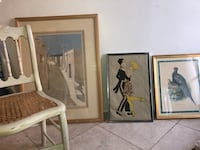 Antique chair vintage picture lot Cockeysville