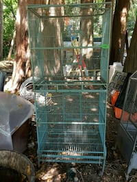 green and black metal pet cage Maple Ridge, V2W 1M4