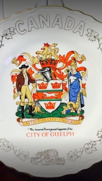Canada City of Guelph graphic decorative plate