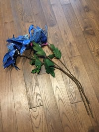 Longstem artificial blue poinsettias London, N6B