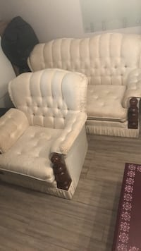 Ivory Love Seat and Chair 3160 km