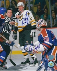 Can Neely & Bill Ranford Dual Signed 8x10 COA  Vaughan, L4L 0G4