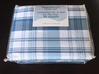 Brand new-twin flannel sheet set,100% cotton Calgary, T2A 4H7