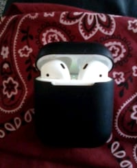 Apple Air Pods with charging case and skin. like n