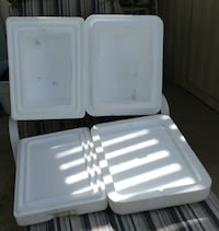 2 styrofoam coolers  inside 7x10. 7 inches deep