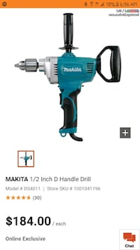 "Makita 1/2"" spade handle drill Calgary, T3E 2L6"