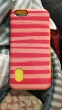 red and white stripe iPhone case Rindge, 03461