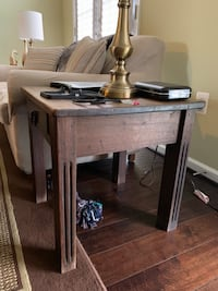 Rectangular brown wooden side table Ashburn, 20148