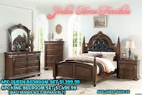 4 PC QUEEN ZS BED ROOM SET @3900 CHESTER AVE & 2630 NILES ST Bakersfield