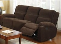 Haven Dark Brown Sofa with 2 recliners Bladensburg, 20710