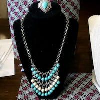 silver and blue beaded necklace Reno, 89502
