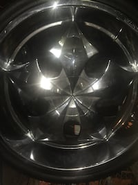 26 inch six lug rims fit Chevrolet will need one tire Ward, 72007