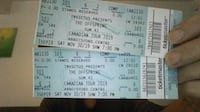 two tickets to offspring/sum 41 unable to go, both tickets $100 firm VANCOUVER