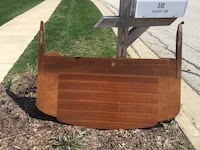 Wood headboard footboard. Full siz