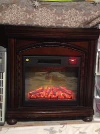 brown and black electric fireplace Thibodaux, 70301