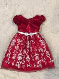 Red and silver toddler dress Sterling, 20164