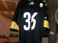 black and white Pittsburgh Steelers jersey shirt