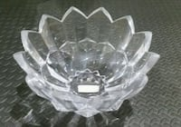 "Mikasa 10"" Diamond point crystal bowl Mississauga"