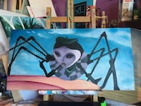 James and the giant peach miss spider original painting by Instagram @cartoon_chrissy Miami, 33177