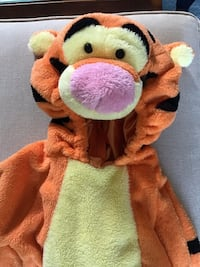 Halloween Costume | Tigger Deluxe Jumpsuit (Size: 3T-4T)