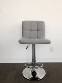 FOUR GREY, MODERN, ADJUSTABLE HEIGHT SWIVEL BAR STOOLS Toronto