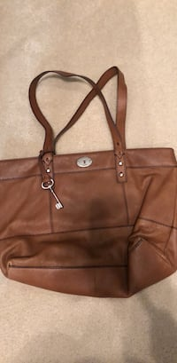 Fossil brown leather handbag  Canfield, 44406