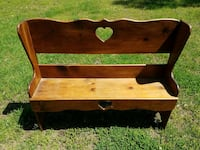 brown wooden bench Woodford, 22580